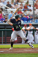 Vermont Lake Monsters catcher Sean Murphy (33) at bat during a game against the Auburn Doubledays on July 12, 2016 at Falcon Park in Auburn, New York.  Auburn defeated Vermont 3-1.  (Mike Janes/Four Seam Images)