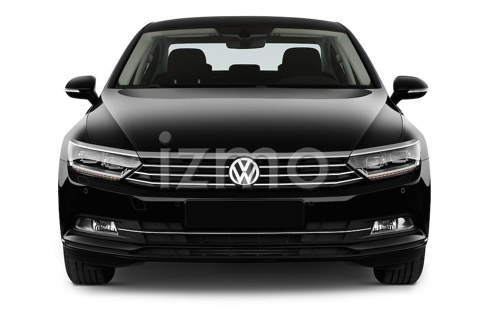 Car photography straight front view of a 2015 Volkswagen Passat Comfort 4 Door Sedan Front View
