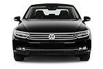 Car photography straight front view of a 2015 Volkswagen Passat Comfort 4 Door Sedan Front View