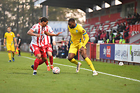 Zs2` and Temi Babalola of Concord Rangers FC during Stevenage vs Concord Rangers , Emirates FA Cup Football at the Lamex Stadium on 7th November 2020