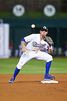 Glendale Desert Dogs Tim Locastro (3), of the Los Angeles Dodgers organization, during a game against the Salt River Rafters on October 19, 2016 at Camelback Ranch in Glendale, Arizona.  Salt River defeated Glendale 4-2.  (Mike Janes/Four Seam Images)