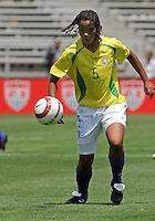 Renata Costa.US Women's National Team vs Brazil at Legion Field in Birmingham, Alabama.