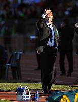 Pim Verbeek coach of Australia....Football - International Friendly - USA v Australia - Ruimsig Stadium