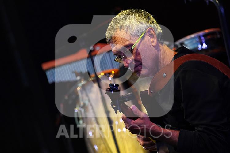 Israeli guitarist and music producer Gil Dor during Noa's concert. Jazz Palacio Real. July 22,2021. (ALTERPHOTOS/Acero)