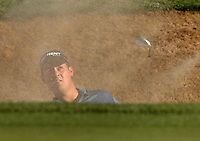 Feb 4, 2007; Scottsdale, AZ, USA; Jeff Quinney hits out of a sand trap during the final round of the FBR Open at the TPC Scottsdale in Scottsdale, Arizona. Mandatory Credit: Mark J. Rebilas-US Presswire Copyright Mark J. Rebilas