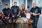 """Attending the 200km Motorbike Run in aid of """"Lifeline for Lucy"""" in Kerins O'Rahillys GAA Club on Sunday. L to r:  Dominic Hunt (Moyvane), Jeff Elwards (Tralee), Michael Collins (Banna) and John O'Connor (Maherees)."""