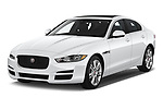 2019 Jaguar XE  Base 4 Door Sedan angular front stock photos of front three quarter view