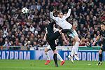 Real Madrid Gareth Bale and PSG Marco Verrati during Eight Finals Champions League match between Real Madrid and PSG at Santiago Bernabeu Stadium in Madrid , Spain. February 14, 2018. (ALTERPHOTOS/Borja B.Hojas)