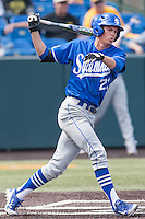 Landon Curry (23) in action during the NCAA matchup between the Indiana State Sycamores and the Wichita State Shockers at Eck Stadium on April 6th, 2012 in Wichita, Kansas. The Shockers defeated the Sycamores 11-3. (William Purnell/Four Seam Images)