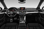 Stock photo of straight dashboard view of 2019 Audi A5-Sportback Premium 5 Door Hatchback Dashboard