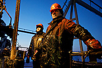 LUKoil workers repairing a drilling well in the Russian Arctic. /Felix Features