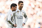 James Rodriguez (l) and Cristiano Ronaldo of Real Madrid in action during their La Liga match between Real Madrid and Granada CF at the Santiago Bernabeu Stadium on 07 January 2017 in Madrid, Spain. Photo by Diego Gonzalez Souto / Power Sport Images