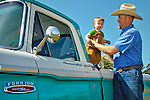 Jason Haase and his son Miller in the 1968 Ford Pickup Truck, San Luis Obispo, California