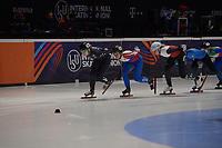 SPEEDSKATING: DORDRECHT: 05-03-2021, ISU World Short Track Speedskating Championships, QF 1500m Ladies, Corinne Stoddard (USA), Alica Porubska (SVK), Natalia Maliszwska (POL), ©photo Martin de Jong