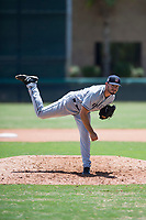 AZL Padres 2 relief pitcher Felix Minjarez (41) follows through on his delivery during an Arizona League game against the AZL Dodgers at Camelback Ranch on July 4, 2018 in Glendale, Arizona. The AZL Dodgers defeated the AZL Padres 2 9-8. (Zachary Lucy/Four Seam Images)