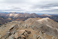 View from the summit of Huron Peak