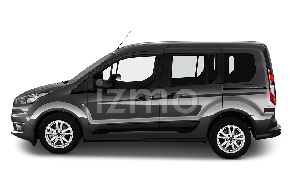 Car Driver side profile view of a 2019 Ford Tourneo-Connect Trend 5 Door Mini Mpv Side View