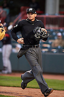 Umpire Ryan Clark during a game between the Richmond Flying Squirrels and Erie Seawolves on May 19, 2015 at Jerry Uht Park in Erie, Pennsylvania.  Richmond defeated Erie 8-5.  (Mike Janes/Four Seam Images)