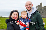 Enjoying a stroll on Ballybunion beach on Saturday, l to r: Patricia, Aaron and Mike Kiely.
