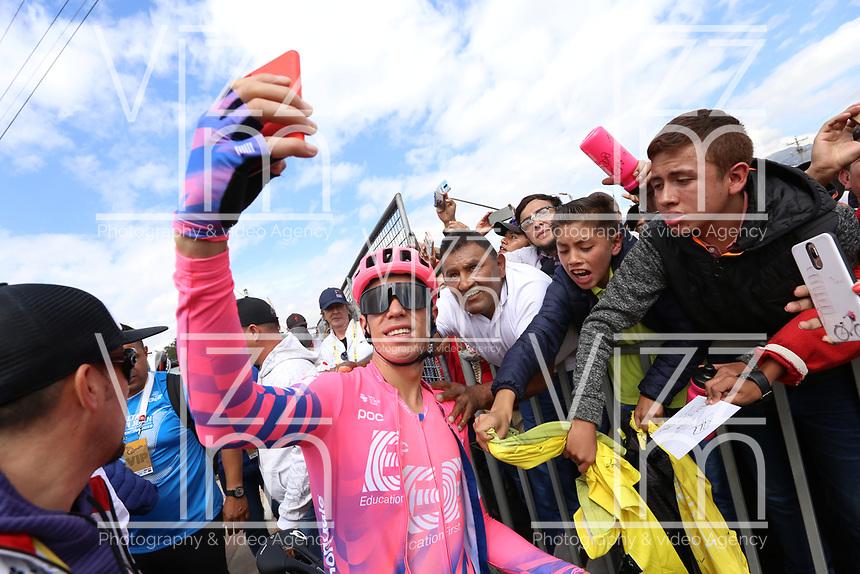 TUNJA - COLOMBIA, 15-02-2020: Rigoberto Uran (COL), UAE TEAM EMIRATES, durante la quinta etapa del Tour Colombia 2.1 2020 con un recorrido de 180,5 km que se corrió entre Paipa, Boyacá, y Zipaquirá, Cundinamarca. / Rigoberto Uran (COL), UAE TEAM EMIRATES, during the fifth stage of 180,5 km as part of Tour Colombia 2.1 2020 that ran between Paipa, Boyaca, y Zipaquirá, Cundinamarca.  Photo: VizzorImage / Darlin Bejarano / Cont