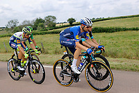 2nd July 2021; Le Creusot, France;  VAN POPPEL Boy (NED) of INTERMARCHE - WANTY GOBERT MATERIAUX and ASGREEN Kasper (DEN) of DECEUNINCK - QUICK-STEP during stage 7 of the 108th edition of the 2021 Tour de France cycling race, a stage of 249,1 kms between Vierzon and Le Creusot
