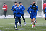 St Johnstone Training...   21.01.21<br />Guy Melamed pictured with Jason Kerr and Scott Tanser during training at McDiarmid Park ahead of Saturday's BetFred Cup semi-final against Hibs at Hampden.<br />Picture by Graeme Hart.<br />Copyright Perthshire Picture Agency<br />Tel: 01738 623350  Mobile: 07990 594431