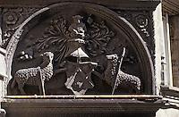 Europe/France/Auvergne/63/Puy-de-Dôme/Clermont-Ferrand: Porte sculptée XVIème siècle 1 rue des Grands Jours