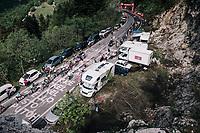 GC group with race leader Simon Yates (GBR/Mitchelton-Scott) up the final climb to Pratonevoso<br /> <br /> stage 18: Abbiategrasso - Pratonevoso (196km)<br /> 101th Giro d'Italia 2018