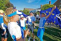 6th September 2021: Toledo, Ohio, USA;  Sophia Popov of Team Europe celebrates winning the Solheim Cup on September 6, 2021 at Inverness Club in Toledo, Ohio.