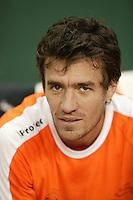 6-2-06, Netherlands, Amsterdam, Daviscup, first round, Netherlands-Russia, training John van Lottum