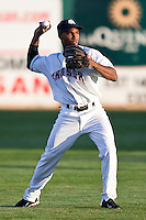 August 7,2010 Jonathan Herrera (11) in action during the MiLB game between the New Orleans Zephyrs and the Colorado Springs Sky Sox at Security Service Field in Colorado Springs Colorado.