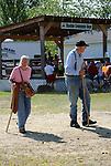 Senior couple enjoying Cheshire Fair in Swanzey, New Hampshire USA