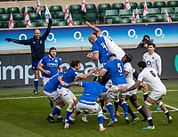 13th February 2021; Twickenham, London, England; International Rugby, Six Nations, England versus Italy; Marco Lazzaroni of Italy wins a line out