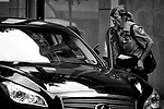 A motors and parking meter attendant argue on a Center City street, near Rittenhouse Square.