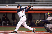 April 11, 2008:  University of Illinois Fighting Illini starting infielder Dominic Altobelli (2) against the University of Michigan Wolverines at Illinois Field in Champaign, IL.  Photo by:  Chris Proctor/Four Seam Images