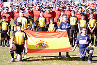 Spain team during Rugby Europe Championship 2017 match between Spain and Belgium in Madrid. March 18, 2017. (ALTERPHOTOS/Borja B.Hojas) /NORTEPHOTO.COM