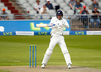 27th May 2021; Emirates Old Trafford, Manchester, Lancashire, England; County Championship Cricket, Lancashire versus Yorkshire, Day 1; Steven Pattersonof Yorkshire edges the ball high over the Lancashire slip fielders