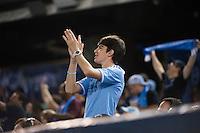 BRONX, NY - Sunday September 19, 2015: New York City FC defeats the San Jose Earthquakes 3-2 at home at Yankee Stadium during the 2015 MLS regular season.