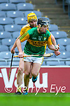 Shane Conway, Kerry in action against Phelim Duffin, Antrim during the Joe McDonagh Cup Final match between Kerry and Antrim at Croke Park in Dublin.