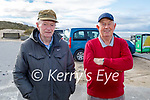 Enjoying a stroll and a chat in Banna beach on Saturday, l to r: James Behan and James McGrath.