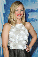 """HOLLYWOOD, CA - NOVEMBER 19: Actress Kristen Bell arrives at the World Premiere Of Walt Disney Animation Studios' """"Frozen"""" held at the El Capitan Theatre on November 19, 2013 in Hollywood, California. (Photo by David Acosta/Celebrity Monitor)"""