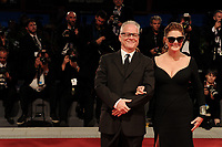 Cannes Film Festival's general delegate Thierry Fremaux, left, and U.S. actress Susan Sarandon, from Kineo delegation, pose on the red carpet for the movie 'Ella & John - The Leisure Seeker' at the 74th Venice Film Festival, Venice Lido, September 3, 2017. <br /> UPDATE IMAGES PRESS/Marilla Sicilia<br /> <br /> *** ONLY FRANCE AND GERMANY SALES ***