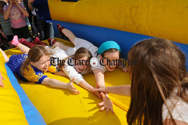 Youngsters having fun during the St Joseph's GAA 125th anniversary celebrations at Gurteen. Photograph by John Kelly.