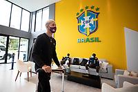 10th November 2020; Granja Comary, Teresopolis, Rio de Janeiro, Brazil; Qatar 2022 qualifiers; Douglas Luiz of Brazil arrives at Granja Comary