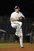 Vanderbilt Commodores pitcher Ben Bowden (35) delivers a pitch during a game against the Indiana State Sycamores on February 20, 2015 at Charlotte Sports Park in Port Charlotte, Florida.  Vanderbilt defeated Indiana State 3-2.  (Mike Janes/Four Seam Images)