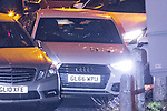 © Joel Goodman - 07973 332324 . 03/01/2017. Huddersfield, UK. A bullet riddled white Audi car at the slip road at Junction 24 of the M62 motorway in Huddersfield . West Yorkshire police have announced a man has died following the discharge of a police firearm , during what they describe as a pre-planned operation , yesterday evening (2nd January 2017) . Photo credit : Joel Goodman