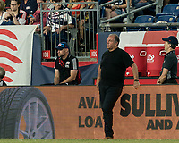 FOXBOROUGH, MA - JULY 28: Bruce Arena during a game between Orlando City SC and New England Revolution at Gillette Stadium on July 27, 2019 in Foxborough, Massachusetts.