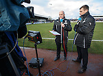 Rangers captain Lee McCulloch doing Rangers TV with Andrew Dickson