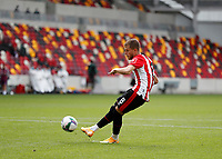 6th September 2020; Brentford Community Stadium, London, England; English Football League Cup, Carabao Cup, Football, Brentford FC versus Wycombe Wanderers; Mathias Jensen of Brentford taking a penalty