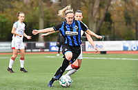 Celien Guns (10 Brugge) pictured during a female soccer game between Club Brugge Dames YLA and Oud Heverlee Leuven on the 8 th matchday of the 2020 - 2021 season of Belgian Scooore Womens Super League , saturday 21 th November 2020  in Knokke , Belgium . PHOTO SPORTPIX.BE | SPP | DAVID CATRY